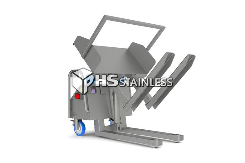 standard tipper: stainless steel backsaver food tipper equipment