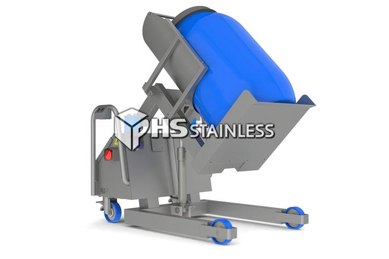 barrel and drum tipper: stainless steel backsaver food tipper equipment