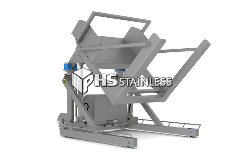 vat and combo tipper: stainless steel backsaver food tipper equipment